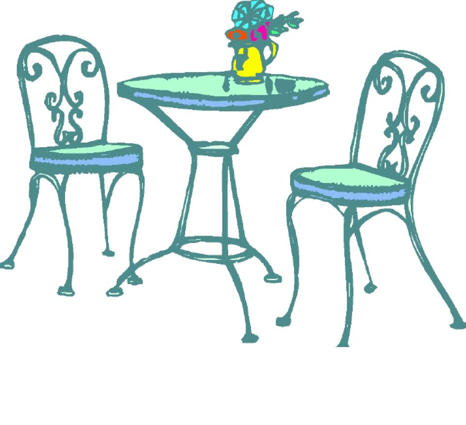 Free Tables And Chairs: Cafe Table Clipart