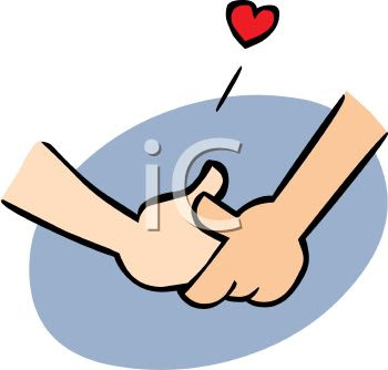 0908 Couple In Love Holding Hands Cartoon Clip Art Clipart Image Jpg