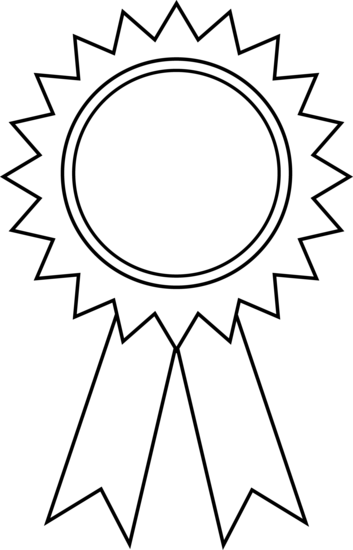 Award Ribbon Clipart Black And White   Clipart Panda   Free Clipart