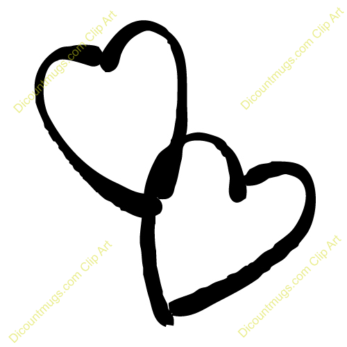 Clipart 11829 Doodle Interlocking Hearts   Doodle Interlocking Hearts