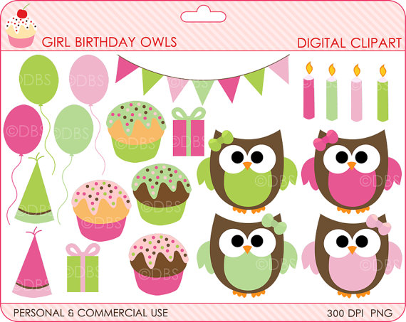 Baby Girl Birthday Clipart - Clipart Kid