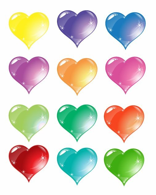 Colorful Heart Love Vector Set   Free Vector Graphics   All Free Web