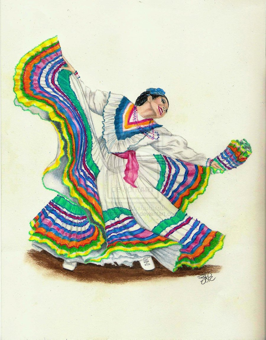 Colorful Mexican Dancer By Winstonscreator On Deviantart