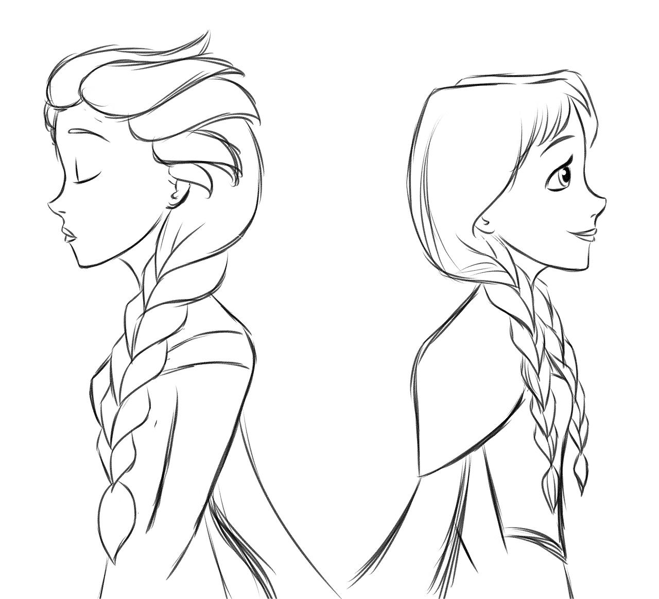 Elsa Frozen Black And White
