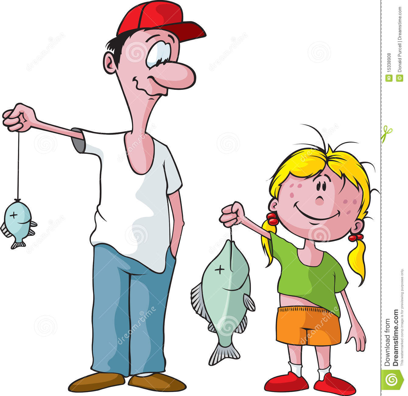 Father And Daughter Fishing Trip Royalty Free Stock Photos   Image