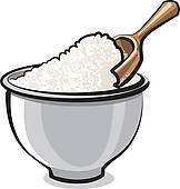 Flour In A Bowl   Clipart Graphic