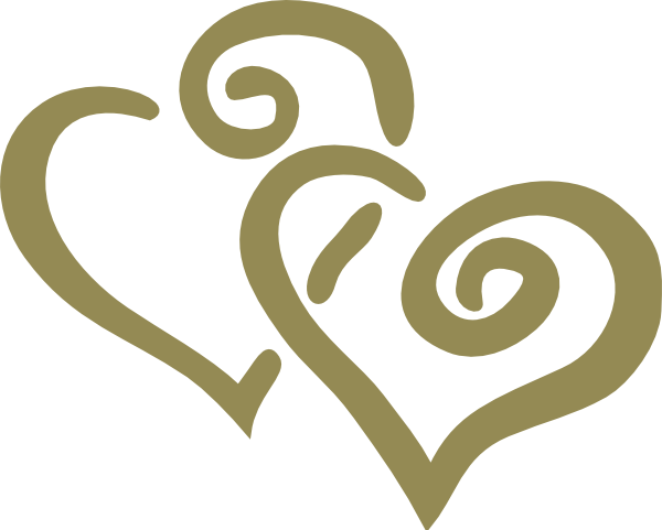 Gold Interlocked Hearts Clip Art At Clker Com   Vector Clip Art Online