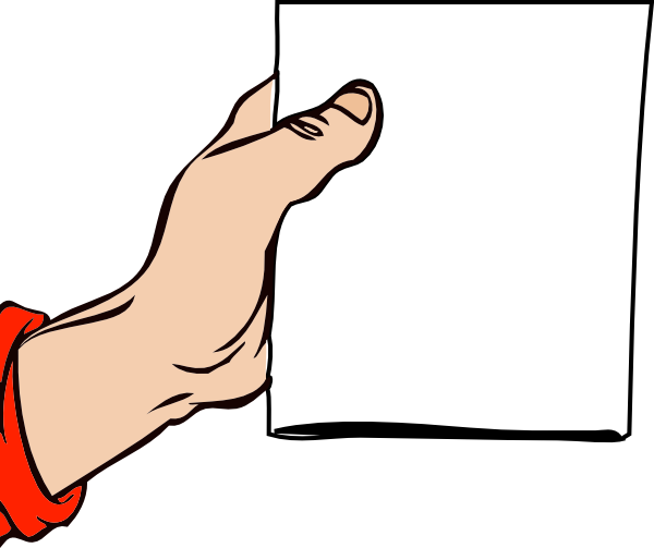 Hand Holding Brochure Clip Art At Clker Com   Vector Clip Art Online