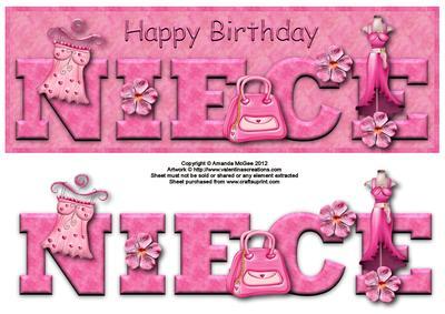 happy birthday niece clipart  clipart kid, Birthday card