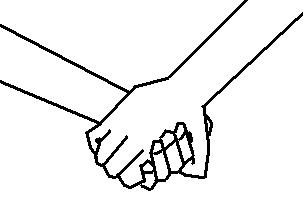 Cartoon Holding Hands Clipart - Clipart Kid