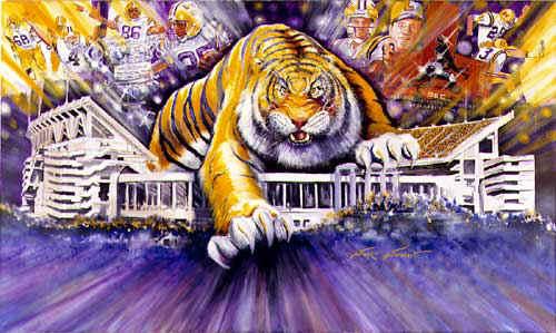Lsu Tiger Mascot Clipart - Clipart Kid