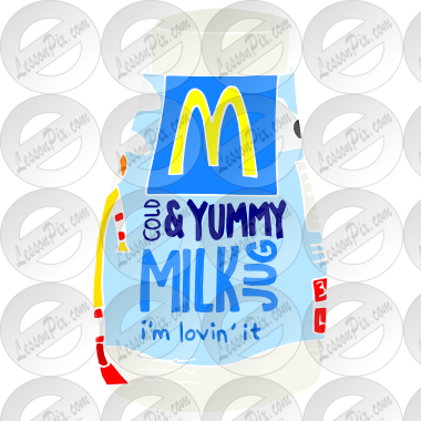 Milk Jug Stencil For Classroom   Therapy Use   Great Milk Jug Clipart