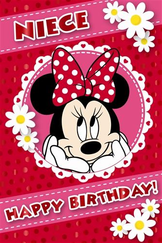 minnie mouse happy birthday niece card buy birthday cards for, Birthday card