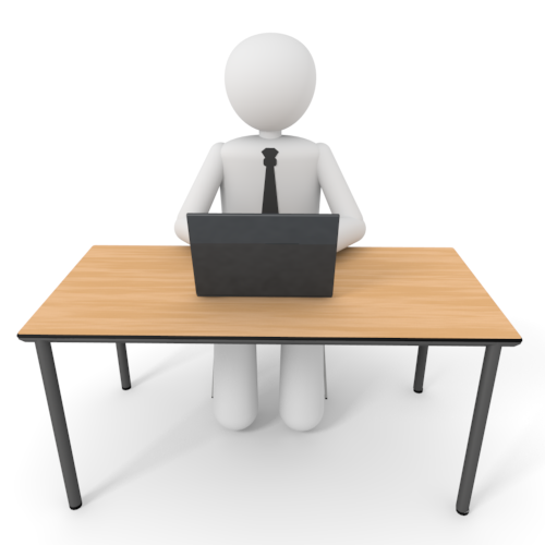 Person Working At Desk Clipart   Blog Png