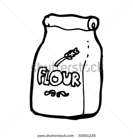 Quirky Drawing Of A Bag Of Flour Stock Vector Illustration 50691229