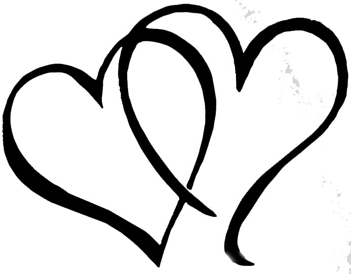 Silver Interlocking Hearts Clipart