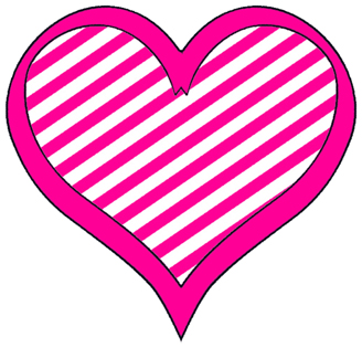 Stripes On Cute Little Hearts   A Collection Little Clip Art Clipart