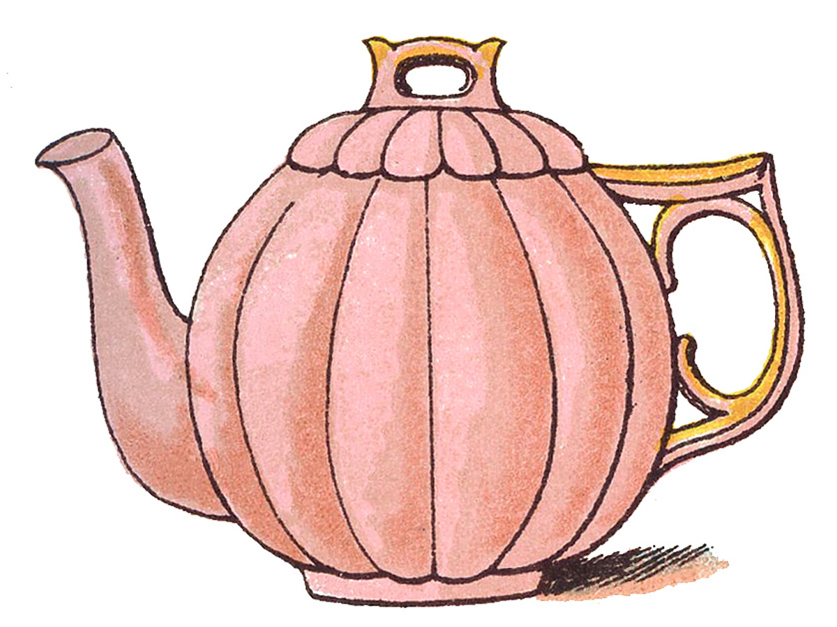 Vintage Clip Art Images   Adorable Pastel Teapots   The Graphics Fairy