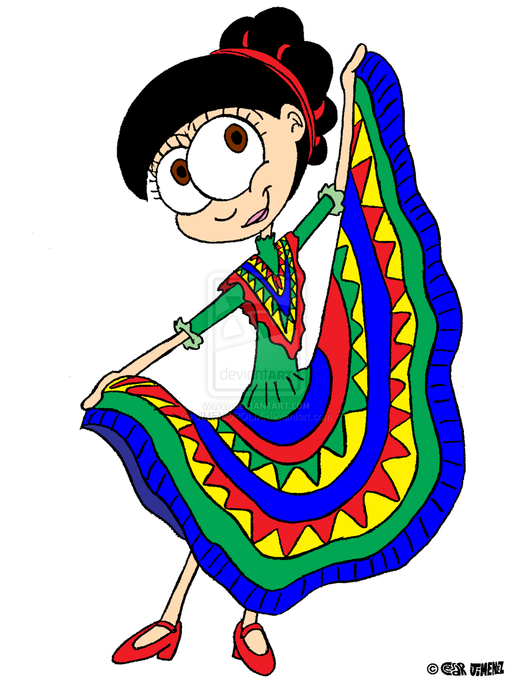 White Mexican Dance Dresses Venny In Her Mexican Dance