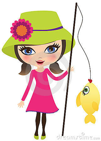 girl fishing clipart clipart suggest