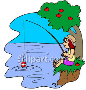 Girl Fishing Clipart - Clipart Suggest