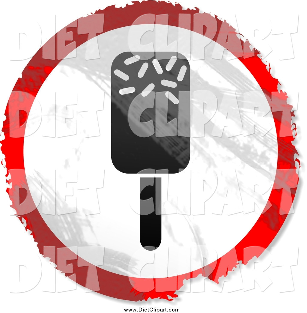 Art Of A Round Grungy Red White And Black Ice Lolly Sign By Prawny