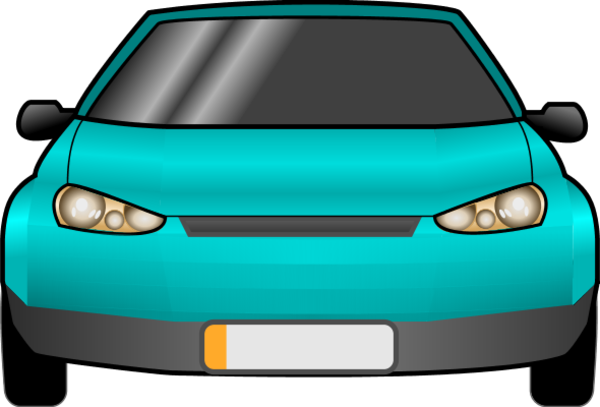 Car Front Vector Clip Art