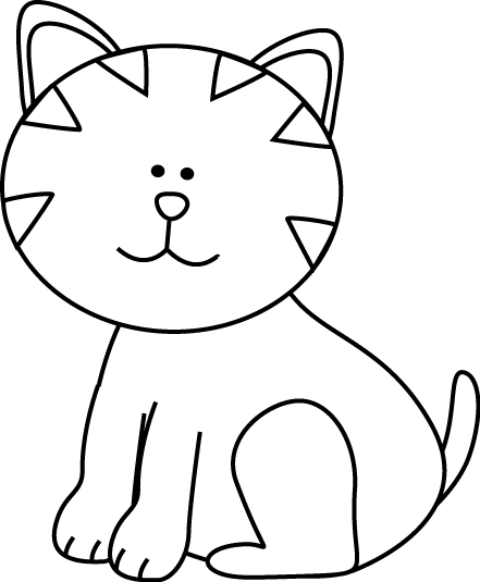 Cat Clip Art Black And White   Clipart Panda   Free Clipart Images