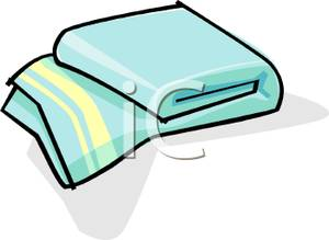 Colorful Cartoon Of A Bath Towel   Royalty Free Clipart Picture