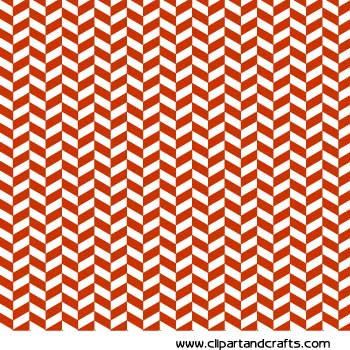 Craft Paper Sheet   Orange With White Chevron Pattern