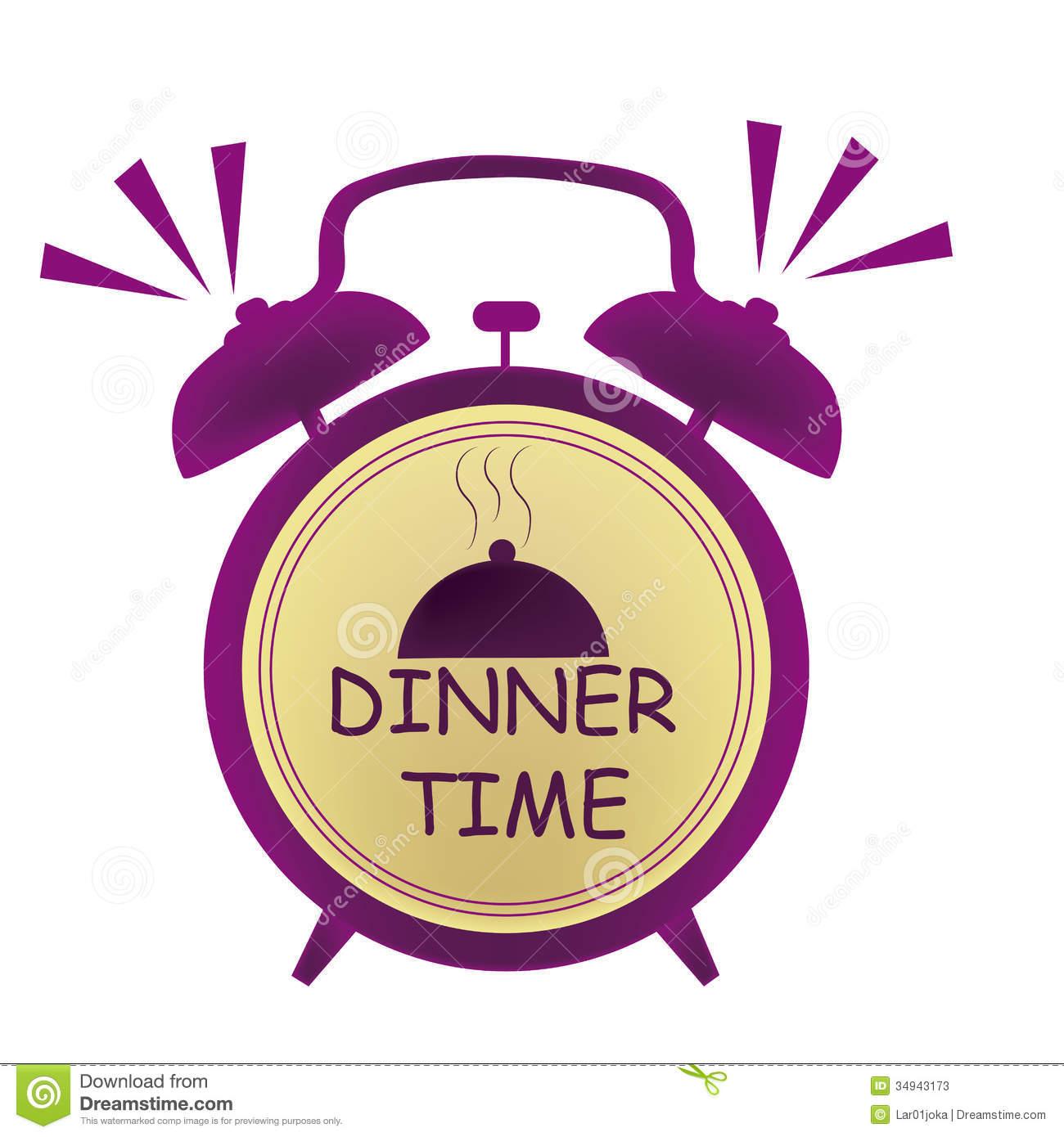 Dinner time clipart