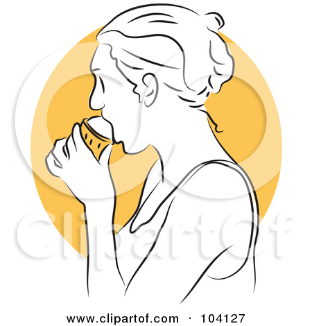 Free  Rf  Clipart Illustration Of A Black And White Double Scoop Ice