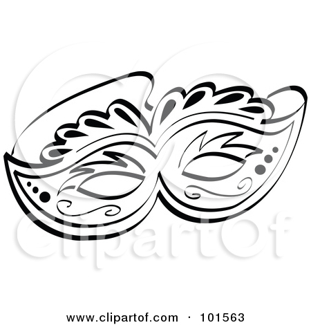 Clip Art Black And White Mask Clipart - Clipart Kid