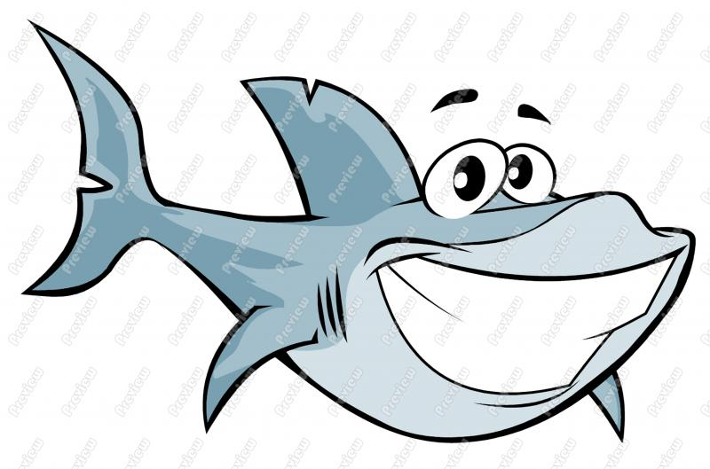Great White Shark Character Clip Art   Royalty Free Clipart   Vector