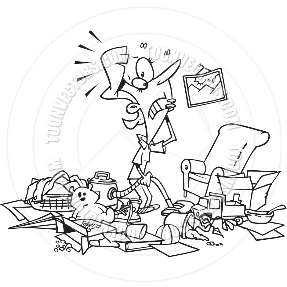 Messy House Black Clipart