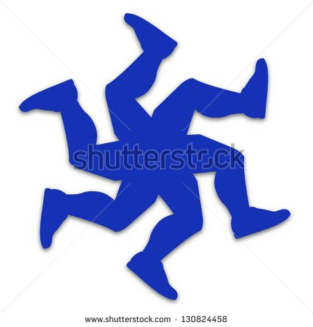 Illustration Of Running Legs Isolated On A White Background   Stock