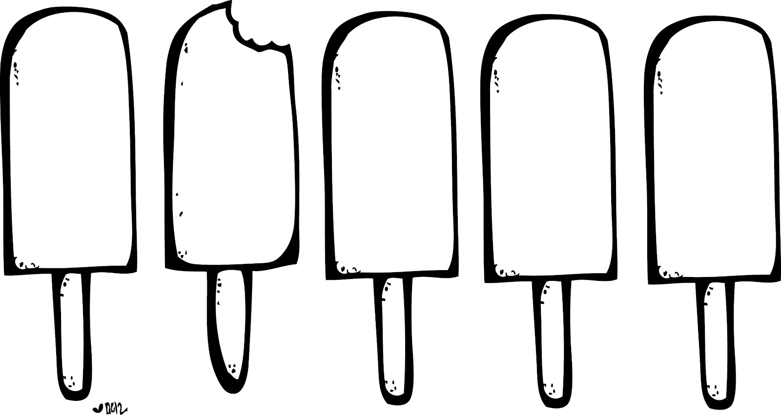 Ice Pop Black And White Clipart - Clipart Kid
