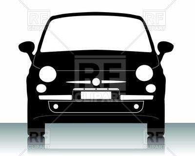 Of Small Car Front View Download Royalty Free Vector Clipart  Eps
