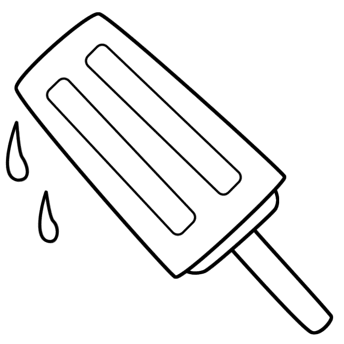 Popsicle   Coloring Page  Food