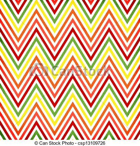 Stock Illustration   Colorful Zigzag Seamless Pattern  Chevron Pattern