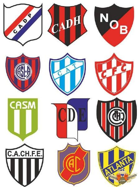 Argentinian Soccer Teams Logos And Emblems Clipart