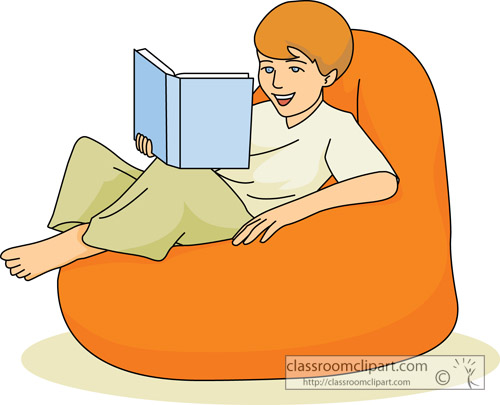 Boy Reading In Bed Clipart Reading