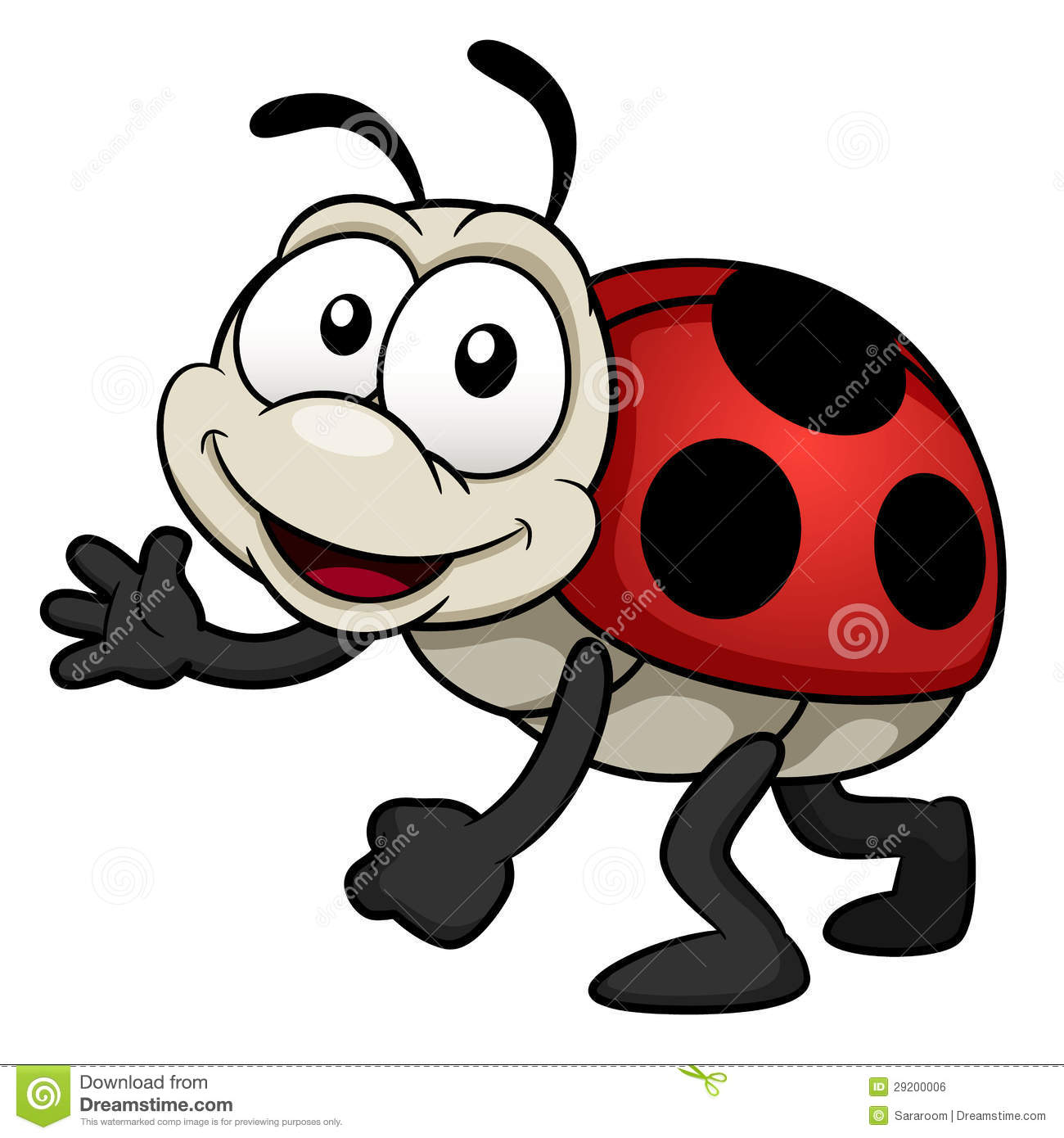 Cartoon Lady Bug Royalty Free Stock Image   Image  29200006