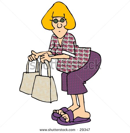 Clipart Illustration Of A Woman With Two Shopping Bags    29347