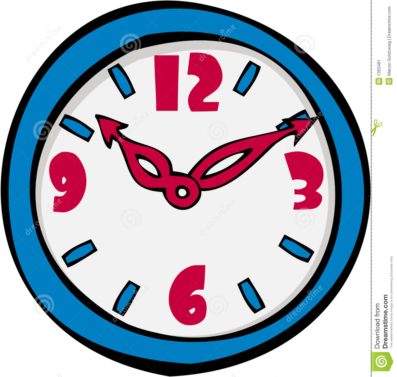 Cartoon Clock Clipart - Clipart Kid