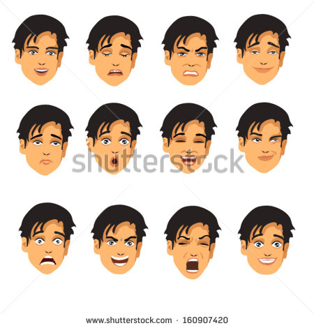 Face Expressions   Stock Vector