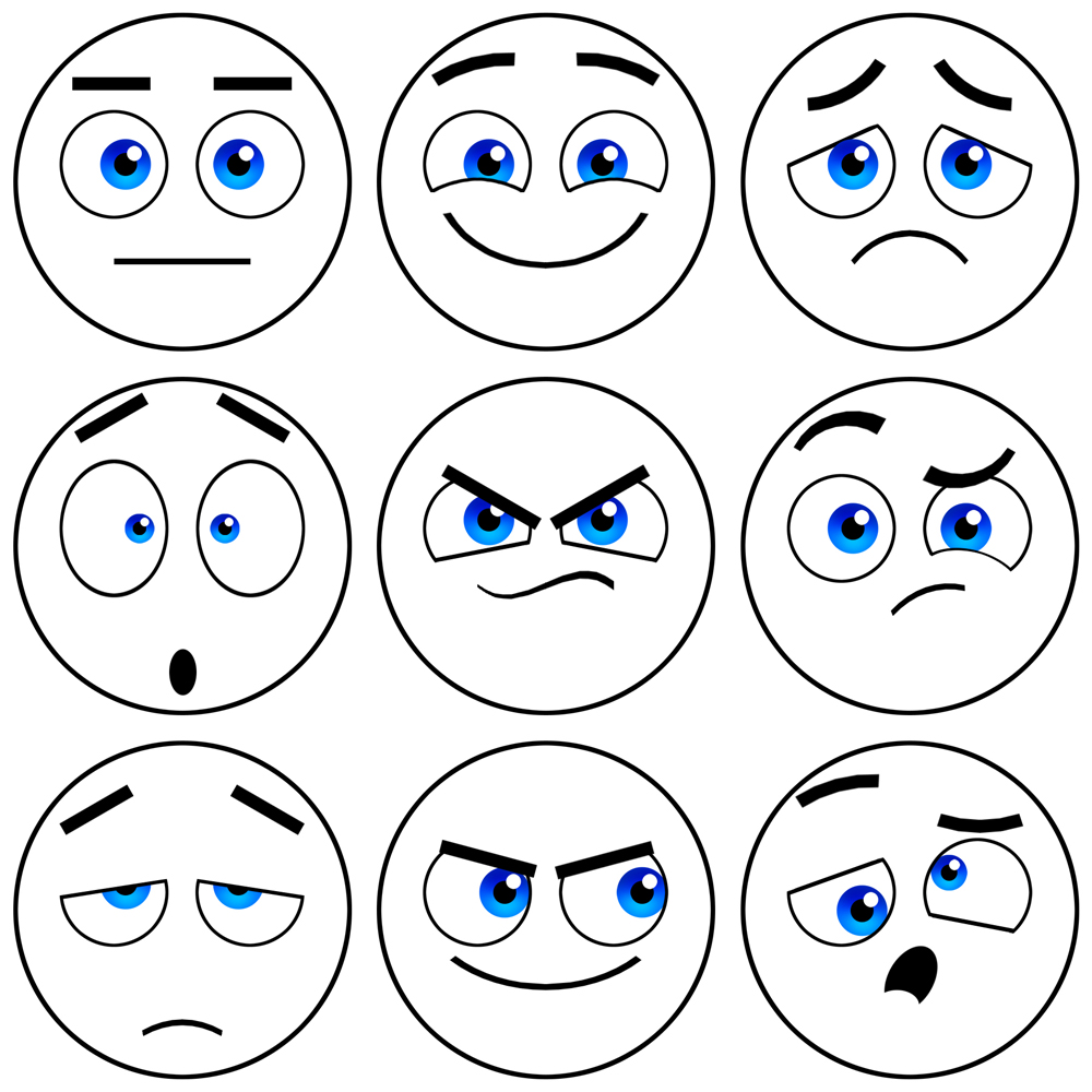 Face Expressions Clipart - Clipart Kid