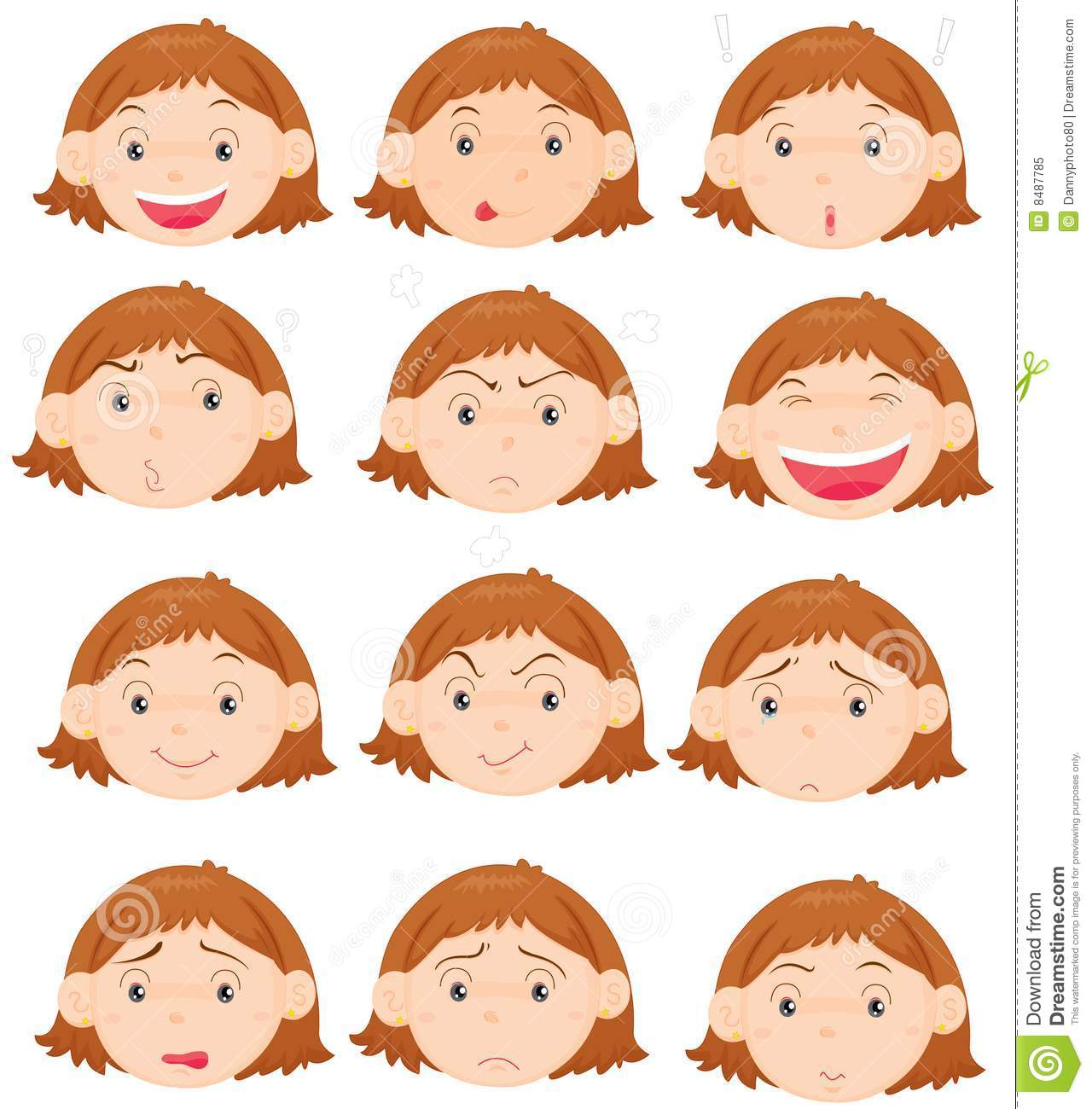 Facial Expressions Royalty Free Stock Photo   Image  8487785