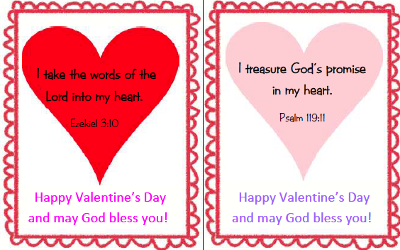 Faith Filled Freebies  Christian Valentines