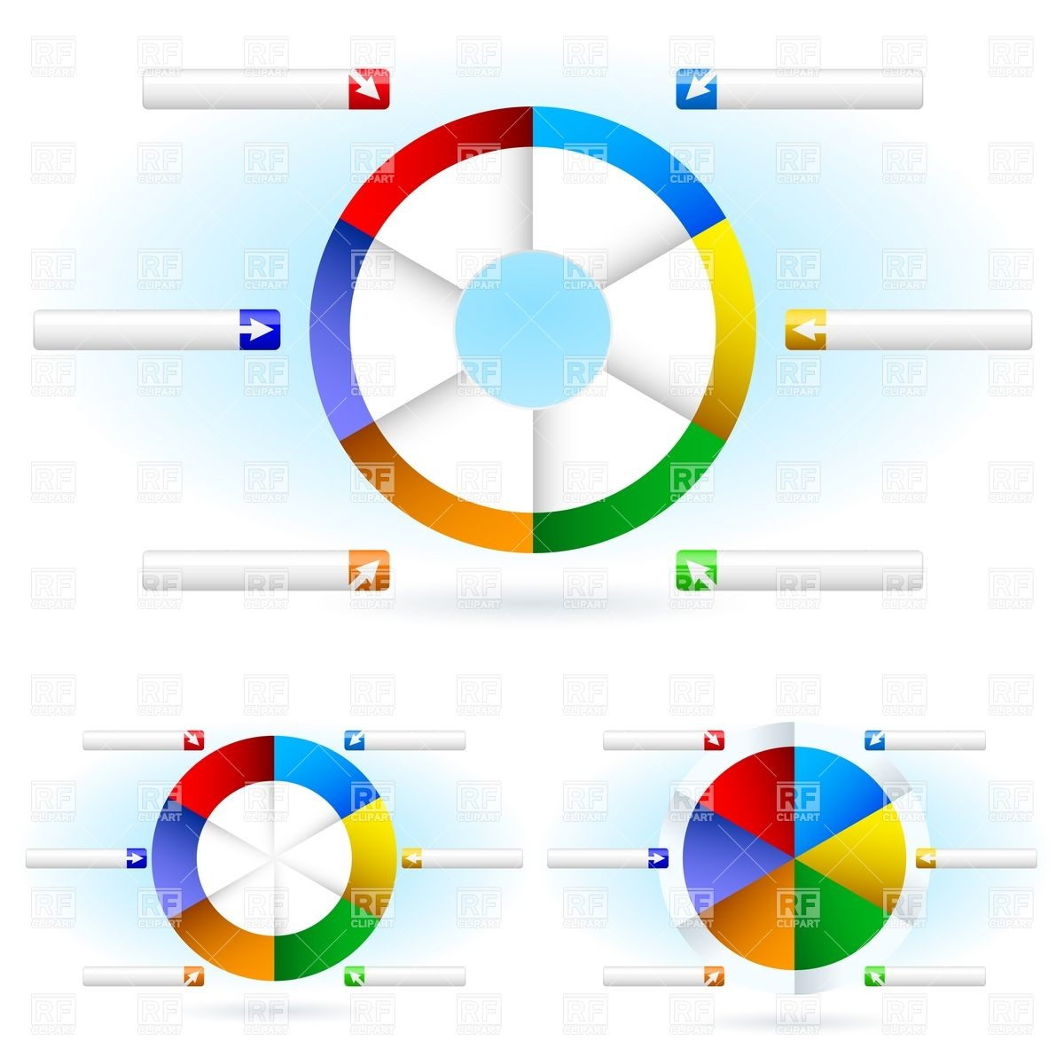 Pie Chart Blank Templates 8260 Business Finance Download Royalty